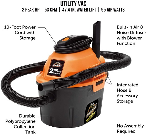 armor all aa255 wet dry vacuum