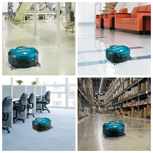 Industrial robot vacuum