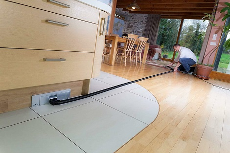 Sweepovac undercounter kitchen hose