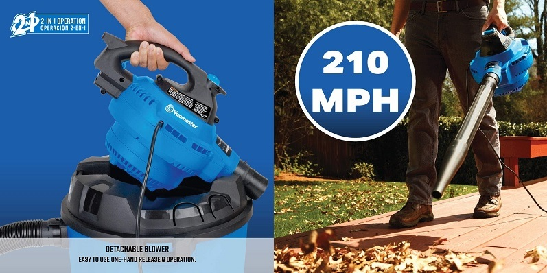 Vacuum cleaner with detachable blower